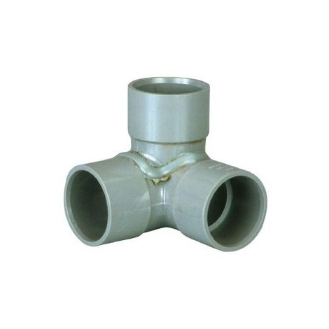 Coude equerre PVC double - Coude FFF - 87° - GIRPI