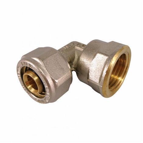 Coude femelle à compression pour tube Multicouche - plusieurs modèles disponibles