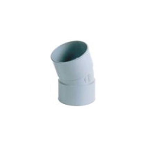 Coude Femelle / Femelle PVC - 22° - Diamètre 40 mm