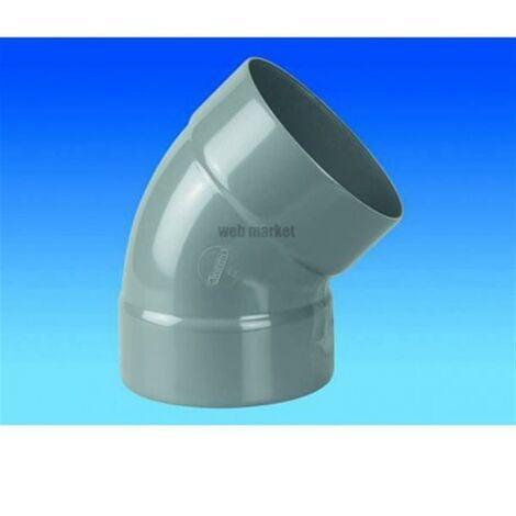 Coude Femelle / Femelle PVC - 45° - Diamètre 40 mm