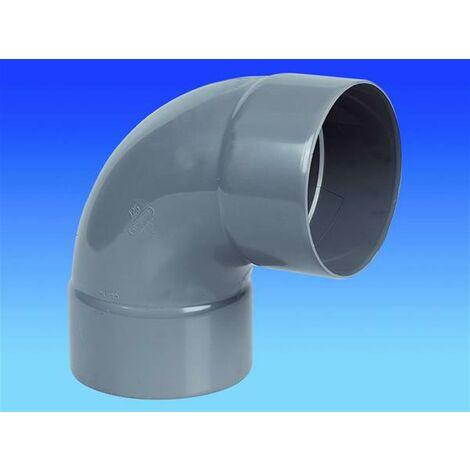 "main image of ""Coude Femelle / Femelle PVC - 87°30 - Diamètre 63 mm"""