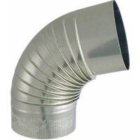 Coude fer aluminium 72°, diamètre 125mm