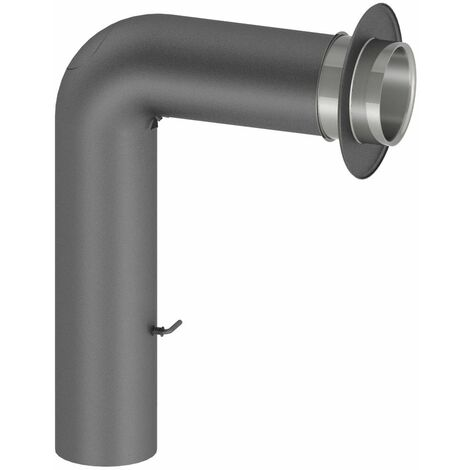 Coude forme pleine pour tuyau de poêle Diam 150 mm 500/700 mm fonte grise