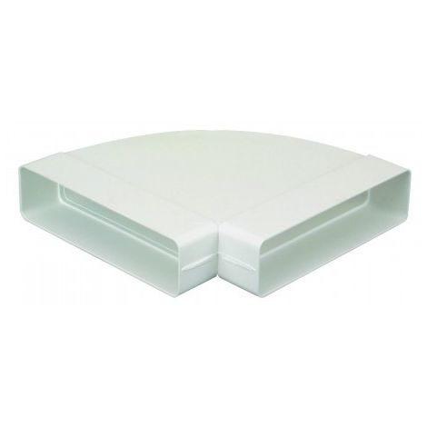 Coude horizontal 90° CH pour conduit rectangulaire PVC rigide - 55 x 220mm - Avec joint