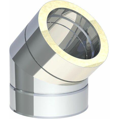 Coude inox Diam 150 mm 45°