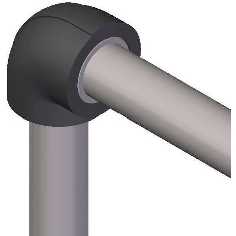 Coude isolant pour réseaux PVC PRESSION - ép. 13 mm - diam. 90 mm