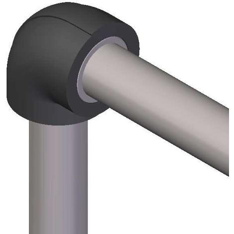 Coude isolant pour réseaux PVC PRESSION - ép. 19 mm - diam. 90 mm