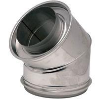 Coude isolé a 45° inox304/galva O153-200