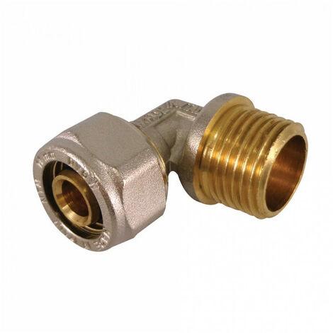 Coude mâle à compression pour tube Multicouche - plusieurs modèles disponibles