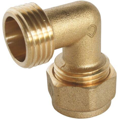 Coude mâle à compression pour tube PER - plusieurs modèles disponibles