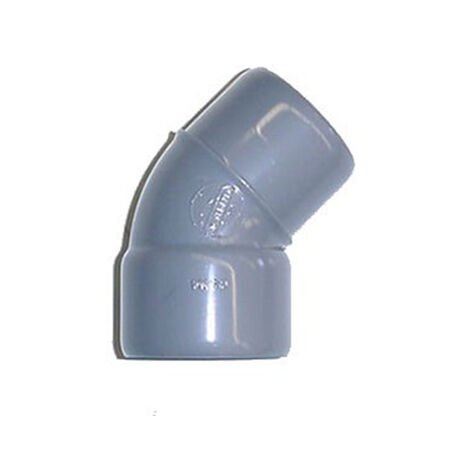 Coude Mâle / Femelle PVC - 22° - Diamètre 40 mm