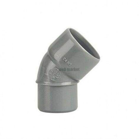 Coude Mâle / Femelle PVC - 45° - Diamètre 40 mm