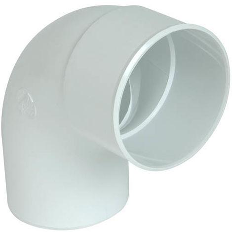 Coude mf 87°30 O100 blanc