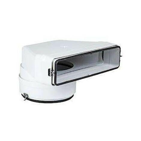 Coude mixte vertical CMV pour conduit rectangulaire PVC rigide - 55 x 110 x ø100mm - Avec joint