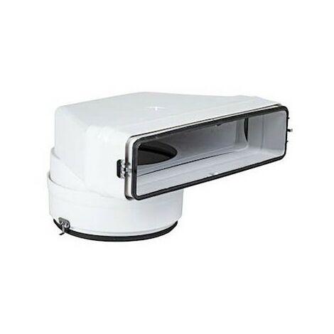 Coude mixte vertical CMV PVC rigide pour bouche - 55 x 220 x ø125mm - Avec joint
