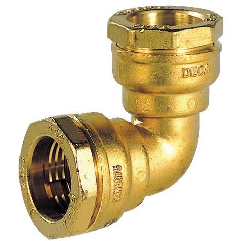 Coude PE serrage ext eau 16b laiton PE pe 32