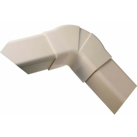 Coude plat 60-130° 80 mm blanc pur