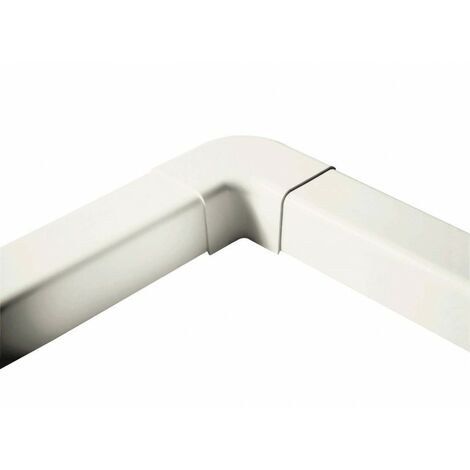 Coude plat 90° 80 mm blanc pur