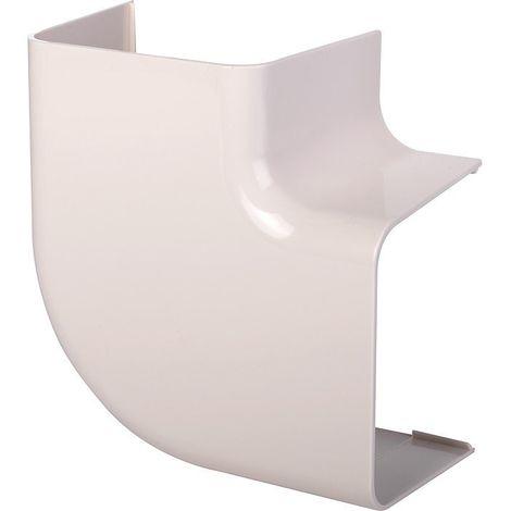 Coude plat 90° plastique rigide beige angle (°) 90