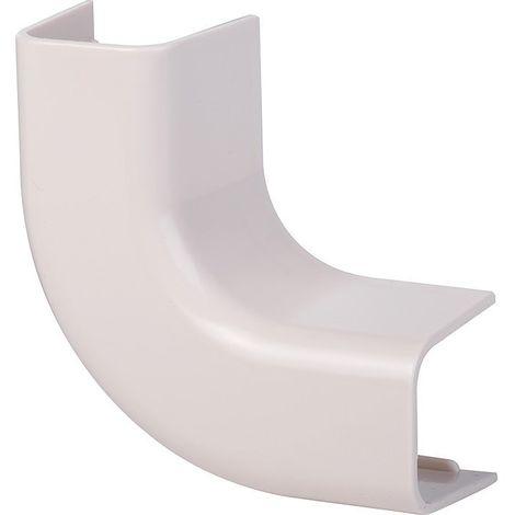 Coude plat 90° plastique rigide beige Largeur goulotte (mm) 25