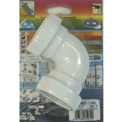 Coude plomberie tuyau lisse 40Mm Pvc S&M 750724