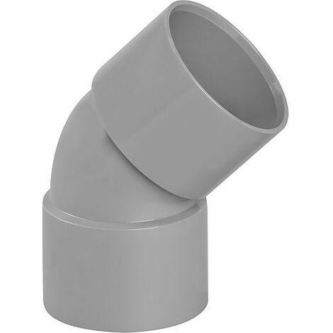 Coude PVC 45° femelle D 40mm
