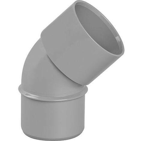 Coude PVC 45° male D 40mm
