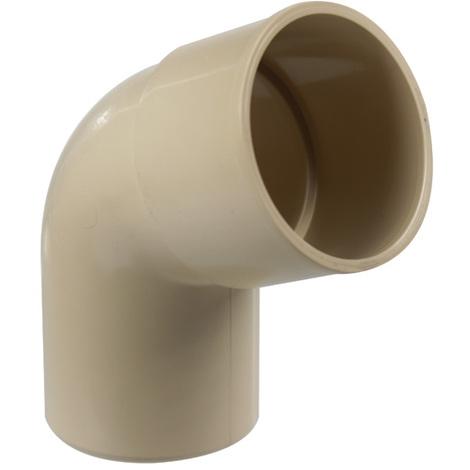 Coude PVC 67°30 MF pour tube de descente Ø50