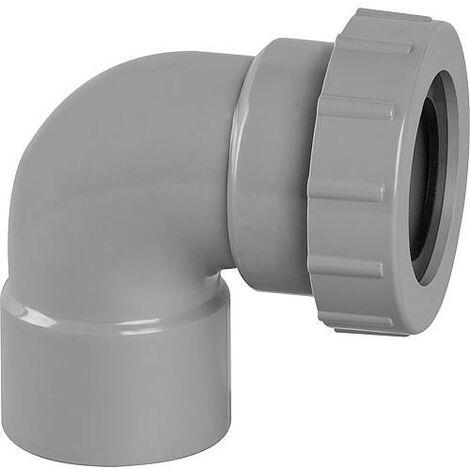 Coude PVC 87° femelle avec joint D 40mm