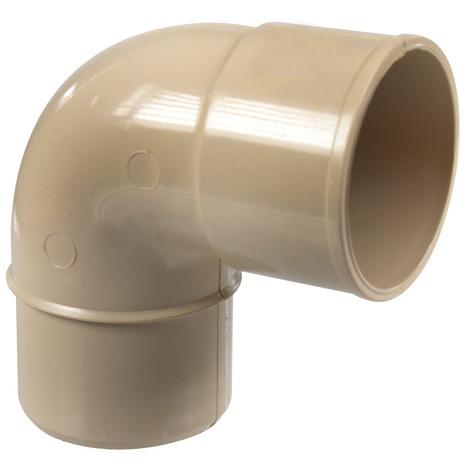 Coude PVC 87°30 MF pour tube de descente Ø50
