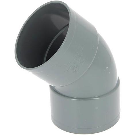 Coude PVC femelle-femelle 45° O100
