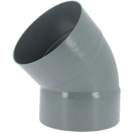 Coude PVC femelle-femelle 45° O200