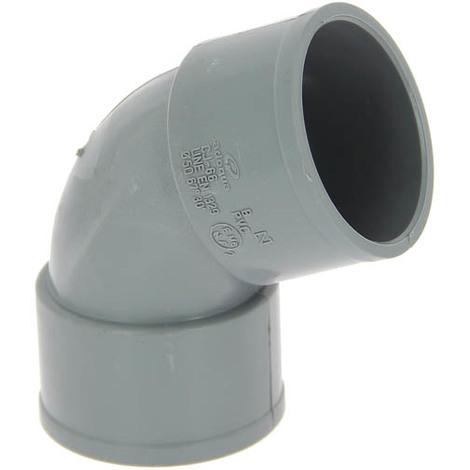 Coude PVC femelle-femelle 67°30 Ø50