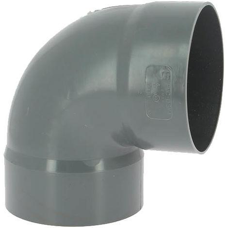 Coude PVC femelle-femelle 87°30 O140
