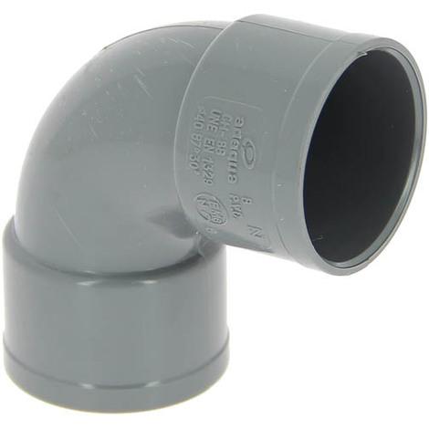Coude PVC femelle-femelle 87°30 O40