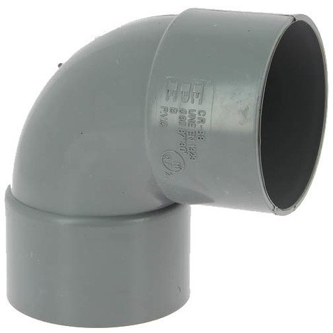 Coude PVC femelle-femelle 87°30 O80