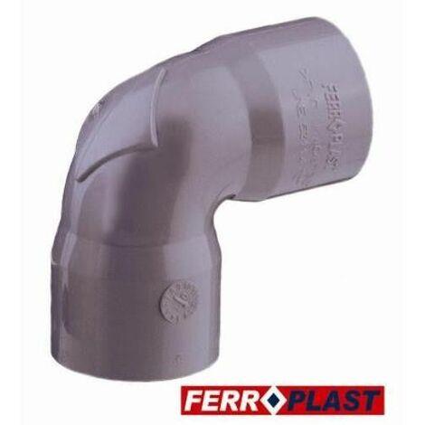 COUDE PVC GRIS HH 87 40MM. 205020