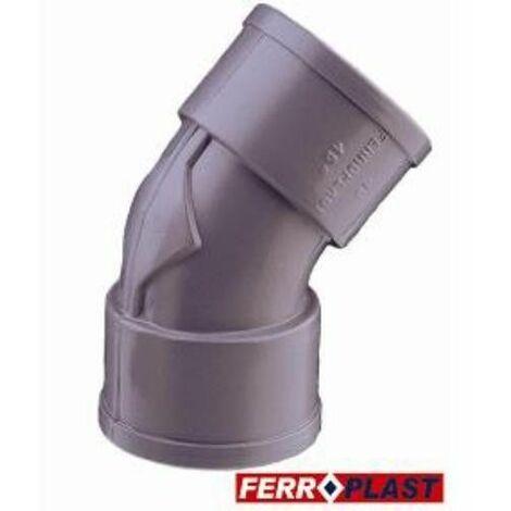 COUDE PVC GRIS HM.-HM. 45º 40 MM. 205273