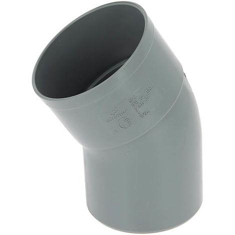 Coude PVC mâle-femelle 30° O100