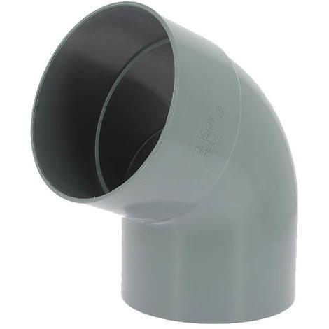 Coude PVC mâle-femelle 67°30 O160