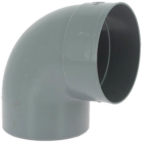 Coude PVC mâle-femelle 87°30 O160
