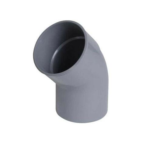 Coude PVC NICOLL - 45° - Diamètre 40 - Mâle-femelle - à coller - 57005M