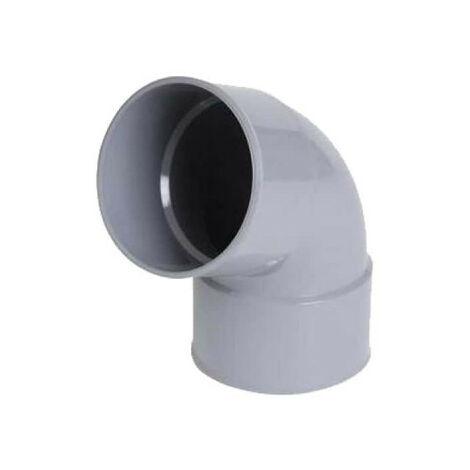 Coude PVC NICOLL - 67°30 - Diamètre 40 - Femelle-femelle - à coller - 57382X