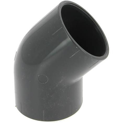 Coude PVC pression femelle-femelle 45° Ø50