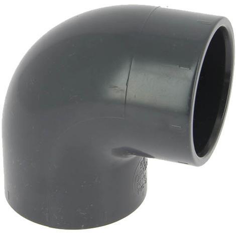 Coude PVC pression femelle-femelle 90° Ø50