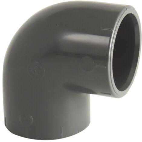 Coude PVC pression femelle-femelle 90° O50
