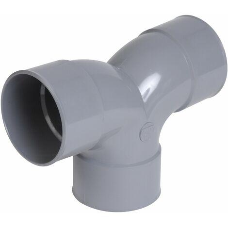 Coude PVC Vidange double parallèle 90° Femelle-Femelle