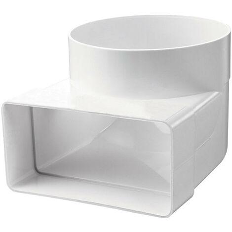 Coude rectangle/rond - 55x110mm / Ø100 - Winflex