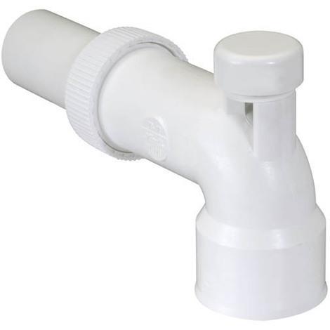 Coude réglable lavabo anti-vide Ø40 PVC-C blanc 1C341B