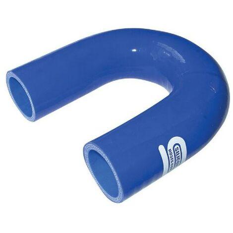 Coude Silicone 180degres 16mm Bleu